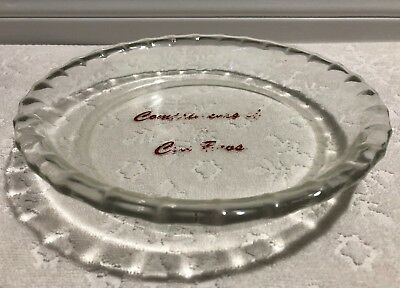Vintage CDN PYREX 1950s; Coy Brothers Promo CLEAR FLUTED 8-IN Pie Plate; 208