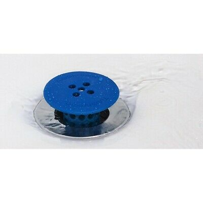 (Blue) TubShroom Hair Catcher Strainer, Drain Protector for Tub 100% Authentic