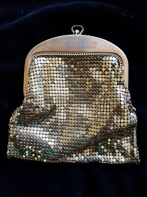 Whiting And Davis Vintage Gold Mesh Purse