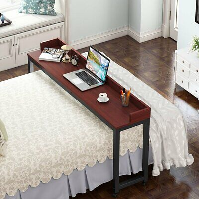 Tribesigns 70.8/'/' Overbed Table with Wheels Mobile Desk Height Dining Table GD5Y