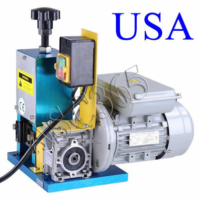 110V Powered Electric Wire Stripping Stripper Benchtop Machine Motorized Copper