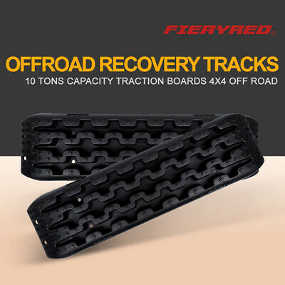 FieryRed 10T Sand Track Boars Recovery Traction Snow Mud Tire Ladder 4WD Offroad
