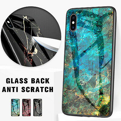 iPhone XS Max XR 8 7 Plus Case Shockproof Tough Glass Marble Soft Cover fr Apple