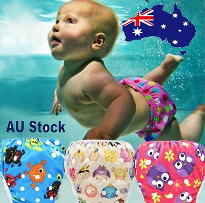 Toddler Baby Boy Girl Cute Cartoon Print Beach Swimming trunks Nappies Shorts AU
