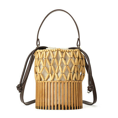 Summer Bamboo Beach Bag Handmade Tote Womens Women Basket Large Tote Beach