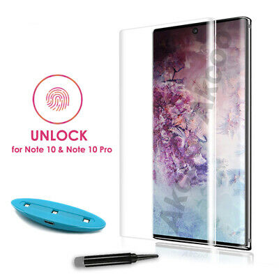 Liquid Screen Protector For Samsung Note10 9 S10+ Full UV Glue Tempered Glass