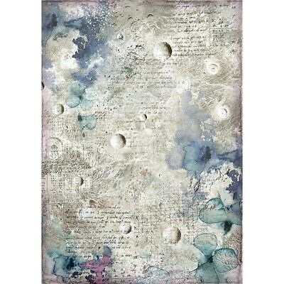 NEW Stamperia A4 Rice Paper Cosmos Astral  DFSA4386