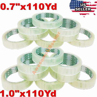 """0.7/1.0"""" Carton Sealing Clear Tape Box Bag Tapes Packing Shipping 1/10/204 Rolls"""