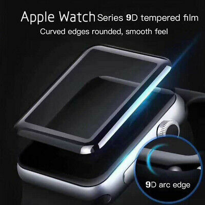 For Apple Watch Series 5/4/3/2/1 Curved Tempered Glass Screen Protector 38~44mm