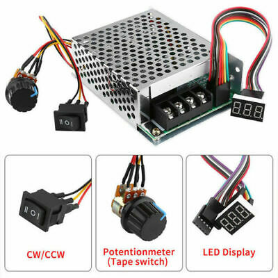 PWM Motor Speed Controller CW CCW Reversible Switch Set DC10-55V 12V 24V 36V 60A