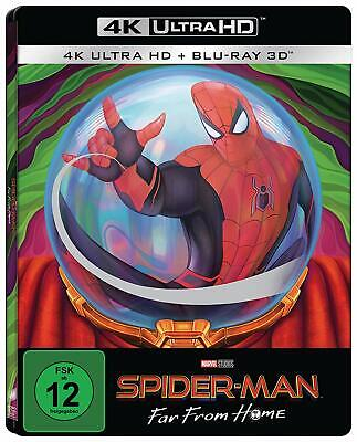 Spider-Man Far from Home (4K UHD + 3D Blu-ray Steelbook) NEW / SEALED -PRE-ORDER