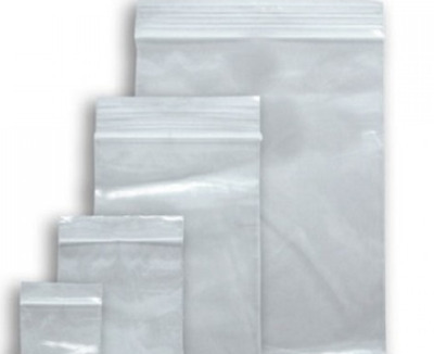 Grip Seal Small Plasti Bags Resealable Press Seal Poly Clear Zip Lock Baggy 100