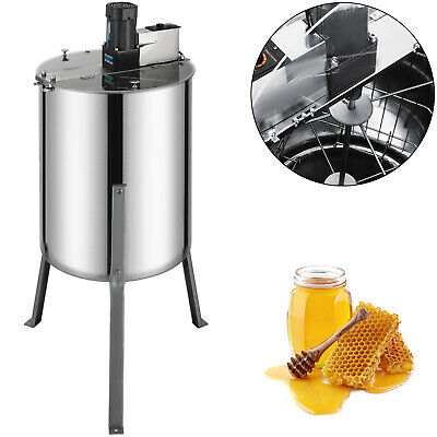 VEVOR Honey Bee Electric Extractor 4 Frame Stainless Steel Honeycomb Spinner