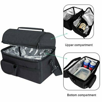 Lunch Picnic Travel Thermal Cooler Food Drink Cool Insulated Large Portable Bag