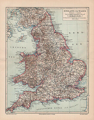 Antique map. ENGLAND & WALES. 1905
