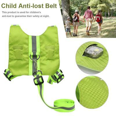 Toddler Anti-Lost Vest Baby Reflective Walking Harness Reins Leash for Child Kid