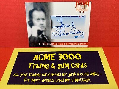 Unstoppable Avengers Complete Collection FRANK THORNTON Cut Autograph Card FT7