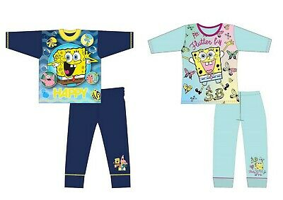 Boys Girls Children Kids Spongebob Long Sleeve Pyjamas pjs set Age 5 -12 Years