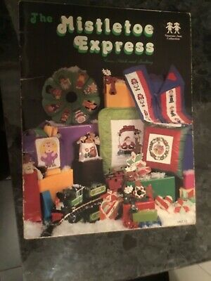 Vintage cross stitch pattern booklet called 'The Mistletoe Express' by Vanessa-A