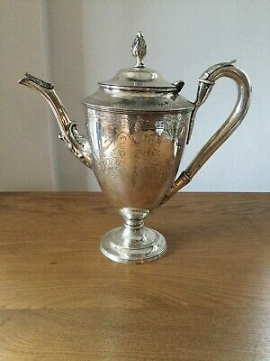 Antique Solid Silver York Coffee Pot 1801. Fantastic Quality !