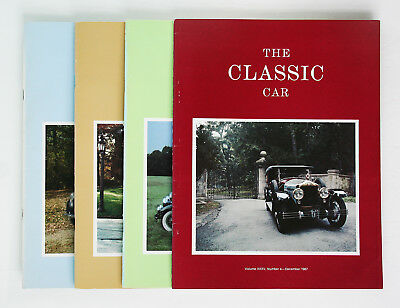 Classic Car Club of America; The Classic Car Magazine, Full Year 4 issues, 1987