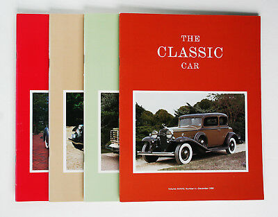 Classic Car Club of America; The Classic Car Magazine, Full Year 4 issues, 1990
