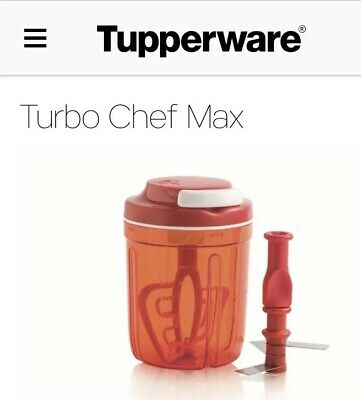 Tupperware Turbo Chef Max!Trita,Sminuzza,Frulla,Amalgama Con 288 Lame,Sconto 15€