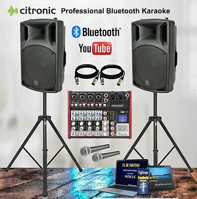 1000 Watt Professional Bluetooth Karaoke Machine System for Tablets & Phones