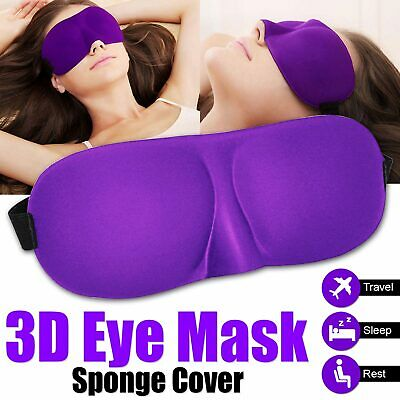 3D Eye Mask Soft Padded Blindfold Travel Rest Sleep Aid Shade Cover Blackout UK