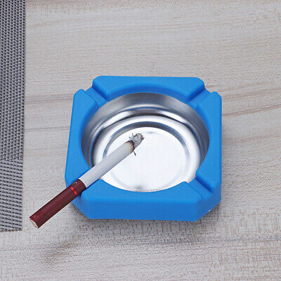 Durable Stainless Steel Round Ashtray Cigarette Holder Ash Tray Organizers Opule