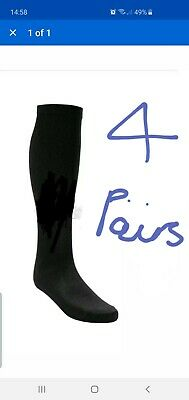 4 Pairs Mens Womens Knee High compression  Socks Sport Gym Workout  BLACK S/M