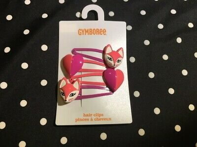 GYMBOREE FAIRY GARDEN PINK SNAIL HAIR CLIPS BARRETTE 1-CT NWT