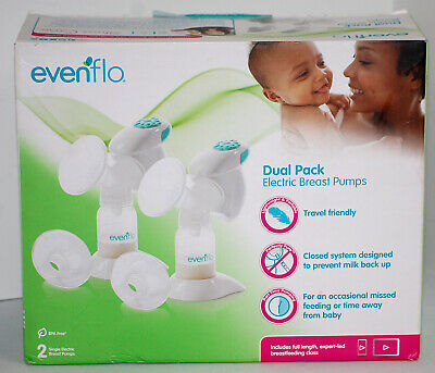 Evenflo Dual Pack Advanced 2 Single Electric Breast Pumps, Compact & Lightweight