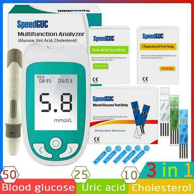 3in1 Multi-Function Cholesterol&Uric acid& Blood Glucose Meter Monitoring System