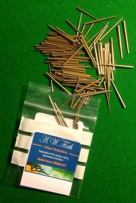 Pack of 100 Brass tapered pins for use in Antique clock repair.Fantastic Quality