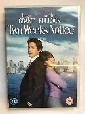 Two Weeks Notice (DVD, 2003, Ft. Sandra Bullock, Hugh Grant) NEW unsealed, L9