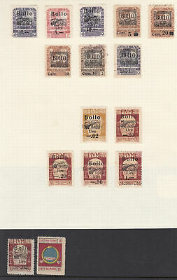 FIUME Revenues: A scarce and extensive collection mainly - 9419
