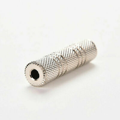 3.5mm Stereo Jack FEMALE TO FEMALE SOCKET AUX Coupler gold Connector Joiner