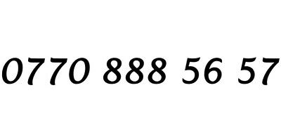 Gold Easy Memorable Vip Mobile Number Business Platinum Simcard | 0770 888 56 57