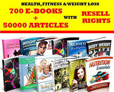 700 MRR Health and Fitness E-Books + 1000 PLR Articles with RESELL RIGHTS