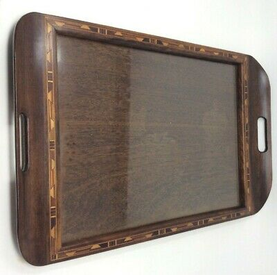 Antique Tunbridge Ware Wooden Tray 50 x 33.5 cms