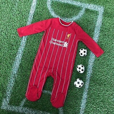 Liverpool FC Official Football kit Standard chartered baby gift Sleepsuit LFC900