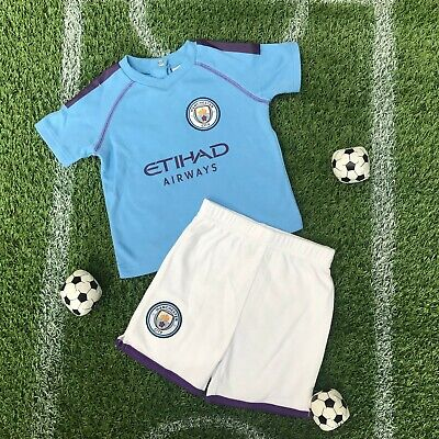 Manchester City FC Official Football Club baby Kit babywear shorts and tee MC903
