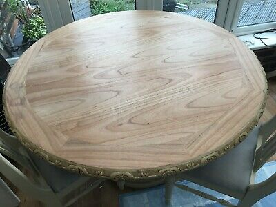 Round Dining Table Hand Painted