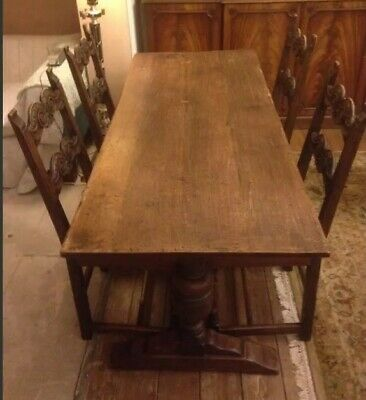 Victorian Solid Oak Refectory Table