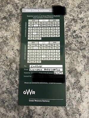 2 X Unused Tickets London To Wales 16-18August Rugby Weekend GWR 1st Class Rt