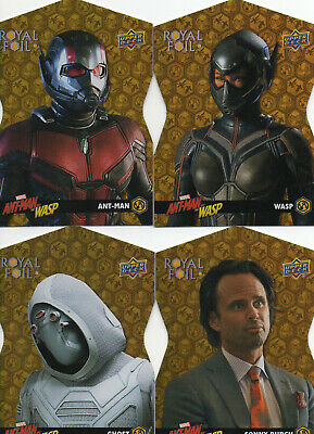 2018 Marvel Ant-Man and the Wasp; 4 Royal Foil Achievement Cards;RF1 RF2 RF3 RF4