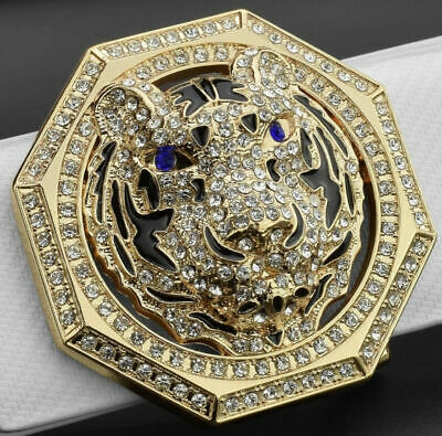 Womens Designer Pin Buckle For 38Mm Belts H Belt Buckles Tiger Hex Diamond Women