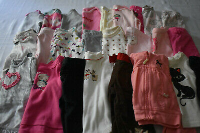 Used 26 Pc. Lot Of Baby Girl Clothes 3-6 Months Euc