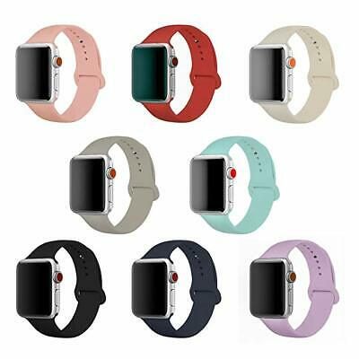 Silicone Sports Wrist Band Strap for Apple Watch iWatch Series 1 2 3 4, 38-44mm